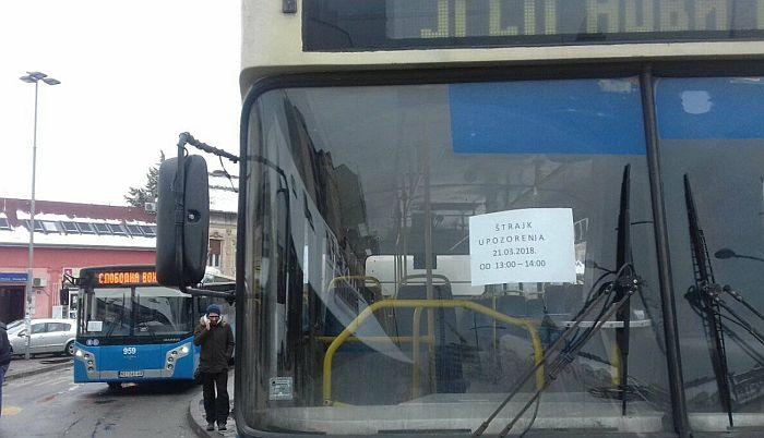 VIDEO, FOTO: Završen protest radnika GSP-a, bio pojačan rad dispečera i otpravnika