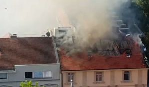 VIDEO: Požar u hotelu u centru Subotice