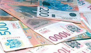 Dinar malo ojačao prema evru