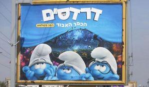 Štrumfeta izbrisana sa plakata u izraelskom gradu