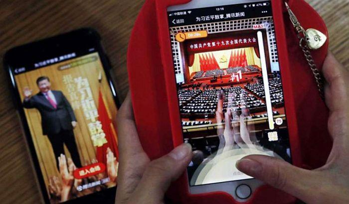 Kinezi predsedniku aplaudiraju preko aplikacije na telefonu