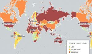 FOTO: Objavljena mapa 48 zemalja koje su u najvećoj opasnosti od terorizma