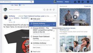 Facebook testira Snooze dugme za prijatelje koji vam dosađuju
