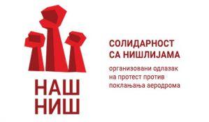 Ne davimo Beograd poziva građane na protest u Nišu
