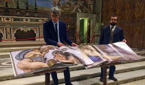 Objavljena knjiga sa svim freskama Sikstinske kapele