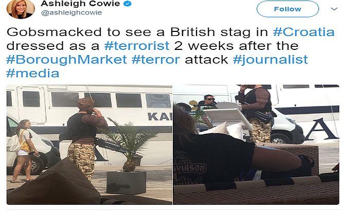 FOTO: Pijani turista šetao obučen kao terorista