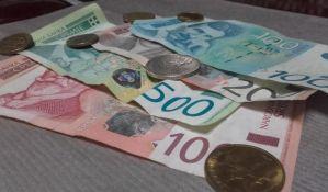 Evro u ponedeljak 123,95 dinara