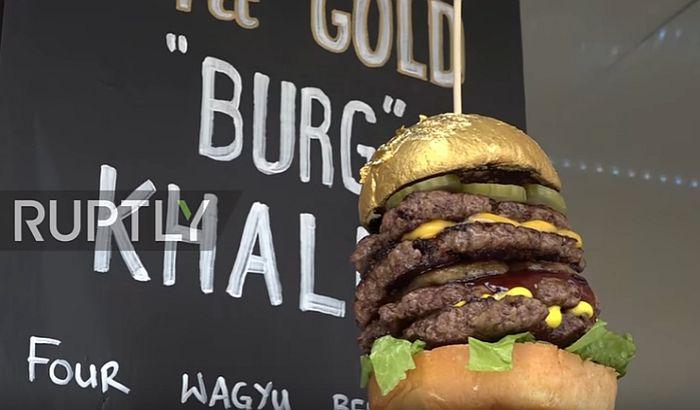 VIDEO: Pozlaćeni hamburger košta 63 dolara
