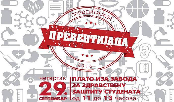 Prvi sajam prevencije 29. septembra kod studentskih domova