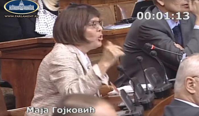 VIDEO: Maja Gojković plakala na sednici