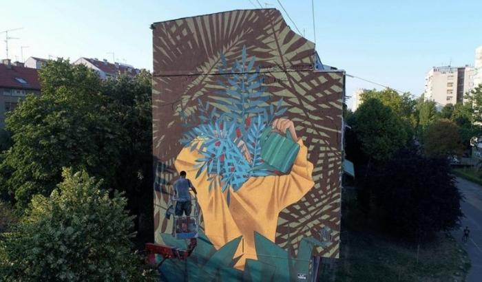 FOTO: Novi Sad dobio mural koji ne može da se isprlja