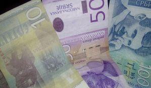 Evro u utorak 123,87 dinara