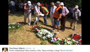 Obeležavanje Dana ustanka u Srbu uz incidente