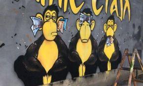 FOTO: Uklonjen sporni mural na Adamovićevom naselju i umesto njega naslikan drugi