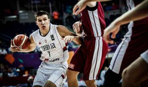 Košarkaši Srbije pobedom nad Letonijom počeli EP
