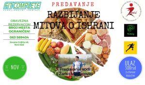 Razbijanje mitova o ishrani ovog vikenda u Novom Sadu