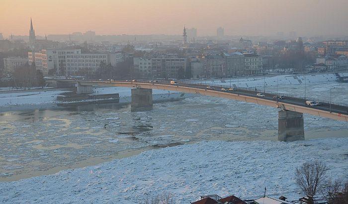 Od Slankamena do Starih Banovaca došlo do ledostaja na Dunavu