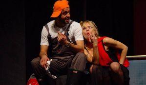Predstava Ljubav u Pozorištu mladih za kupce u knjižari BoBo