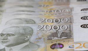 Javni dug manji za milijardu evra zbog jačanja dinara
