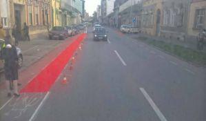 FOTO: Crvene staze za bicikliste u Kisačkoj ulici