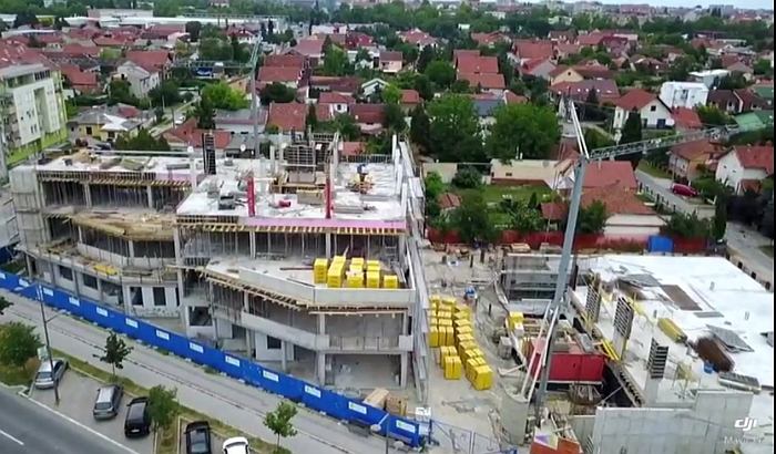 VIDEO: Napreduje gradnja zgrade Hitne pomoći na Telepu