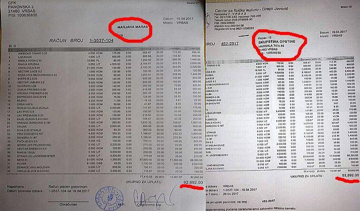Vrbas: Ceh iz restorana sa partijskog veselja pokušala da plati novcem građana