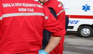 Oboreni pešak i biciklista u Novom Sadu