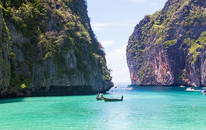 Tajlandska plaža na kojoj je snimljen film