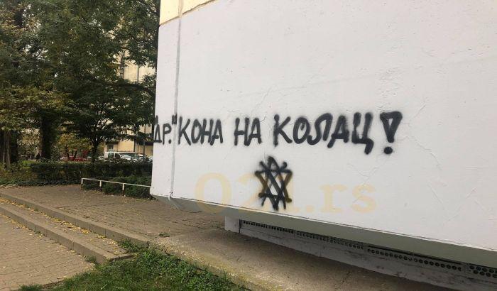 FOTO, VIDEO: Poziv na ubistvo dr Kona na grafitu mržnje u Novom Sadu