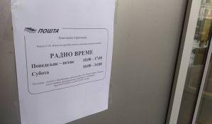 Deo radnika pošte u Novom Sadu suspendovan, pojedini šalteri rade sa skraćenim radnim vremenom