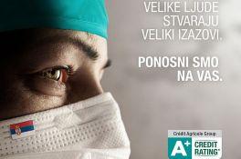 Crédit Agricole banka i dalje uz medicinske radnike - posebno povoljne ponude keš kredita