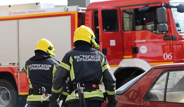 Požar na naplatnoj rampi na ulazu u Novi Sad