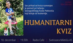 Humanitarni kviz za malog Kostu sutra u Radio kafeu