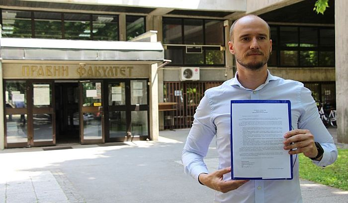 Božović se žalio na spornu odluku Pravnog fakulteta u Novom Sadu u slučaju Martinovićevih plagijata