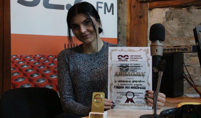 Novinarki Radija 021 Gorici Nikolin nagrada za profesionalno izveštavanje o radničkim temama