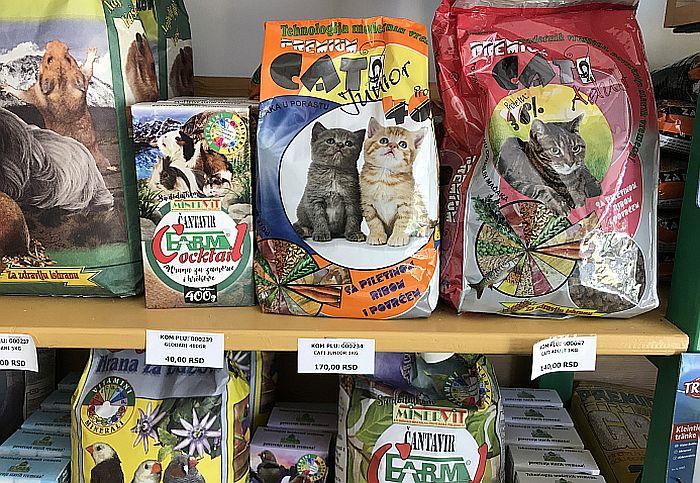 FOTO: Najkvalitetnija hrana za životinje u prodavnici NS Pet u Temerinskoj 170
