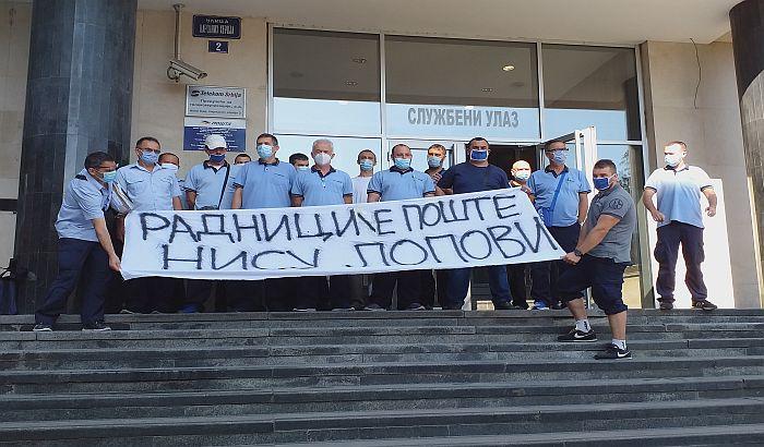 FOTO, VIDEO: Novosadski poštari poručili da nisu lopovi