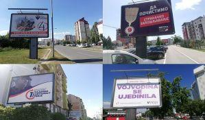 FOTO: Novosadske ulice okupirane predizbornim bilbordima
