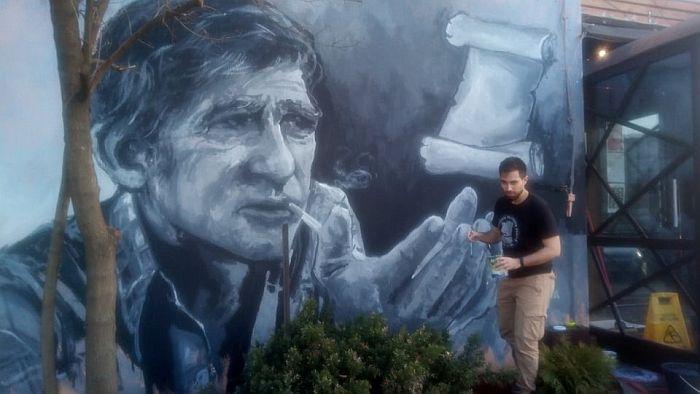 FOTO: Mural posvećen Miki Antiću na Limanu
