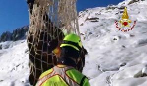 Vatrogasci spasili konje sa zavejanih pašnjaka
