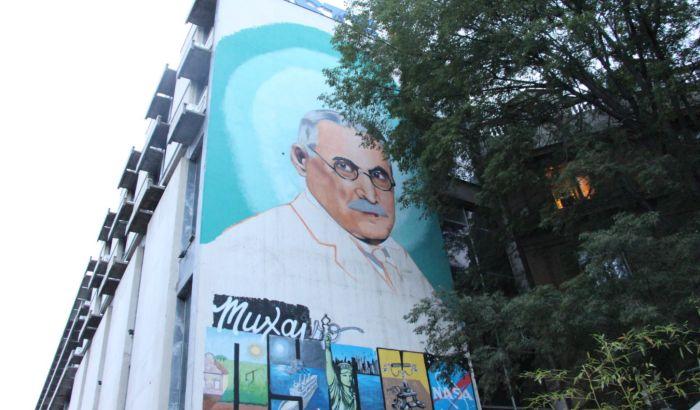 FOTO: Veliki mural posvećen Mihajlu Pupinu oslikan u centru grada