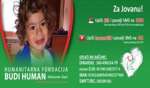 Novosađani pomažu četvorogodišnjoj devojčici Jovani Štikovac