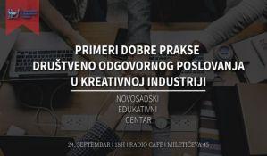 O dobroj praksi odgovornog poslovanja u kreativnoj industriji 24. septembra u Radio kafeu