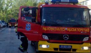 Požar u napuštenom objektu na Bulevaru Evrope