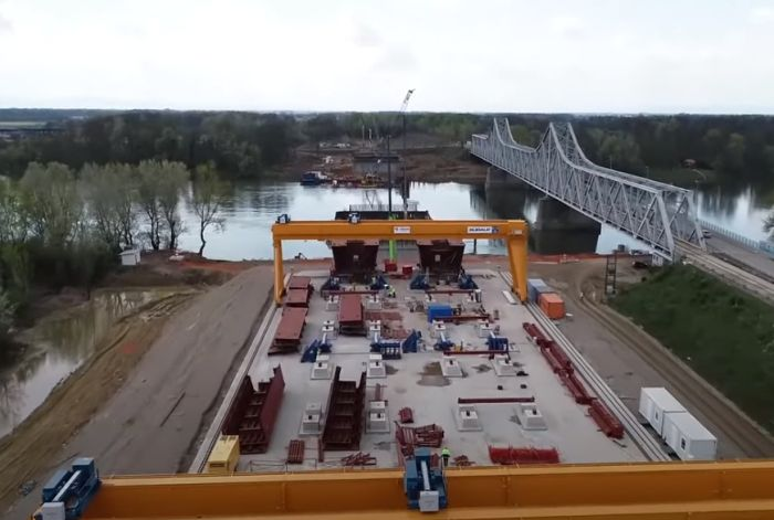 VIDEO: Objavljen snimak izgradnje mosta na Savi u Sremskoj Rači