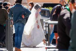 FOTO: Lejdi Gaga u venčanici na snimanju filma Ridlija Skota