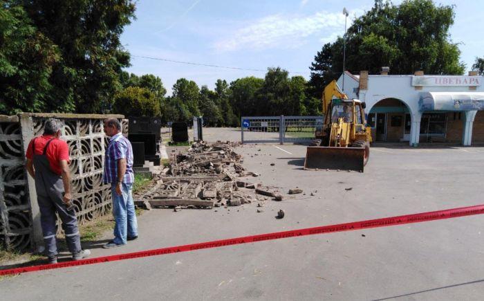 FOTO: Gradsko groblje u Vrbasu dobija novu ogradu