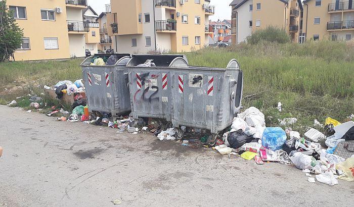 FOTO: Manjak kontejnera u delu Adica muči stanare dva stambena naselja