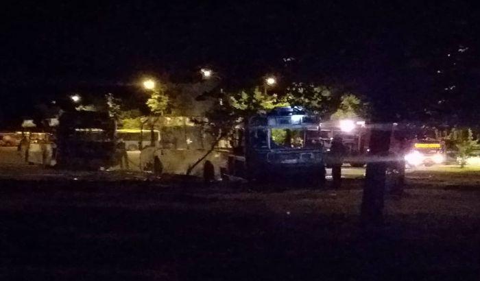 FOTO: Požar na parkingu GSP