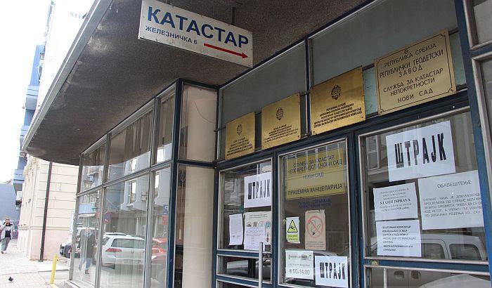 Radnici katastra u Novom Sadu u štrajku, rad potpuno obustavljen